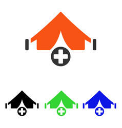 Field hospital flat icon vector