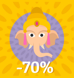 final sale ganesh chaturthi background flat style vector image