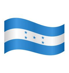 flag of honduras waving on white background vector image