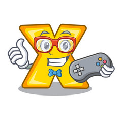 Gamer cartoon multiply sign for calculate math vector
