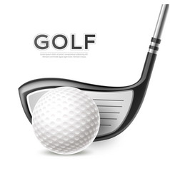 golf tournament poster golf club and ball vector image