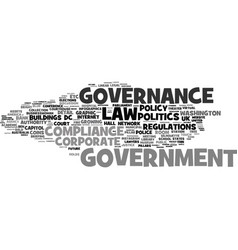 Government word cloud concept vector