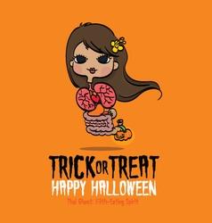 Halloween Thai Ghost vector