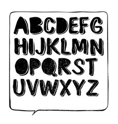 Hand drawn font with shadow vector