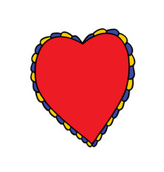 Heart doodle icon sticker vector