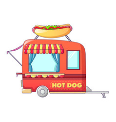 Hot dog street shop icon cartoon style vector