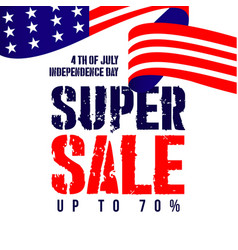 Independent day super sale template design vector
