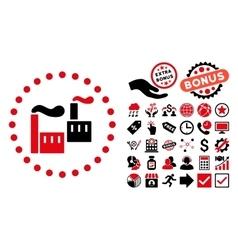 Industry Flat Icon with Bonus vector