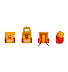 kids school bag backpack or rucksack with webbing vector image