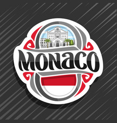 Logo for monaco vector