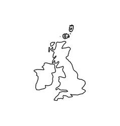 Map of united kingdom black color icon vector