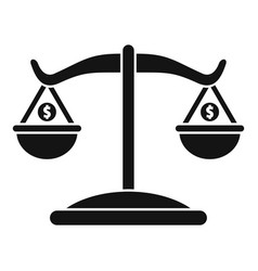 money balance icon simple style vector image