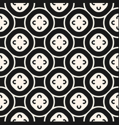 Monochrome seamless pattern floral tiling vector