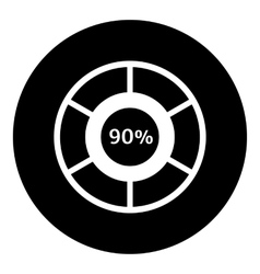 Ninety percent download icon simple style vector