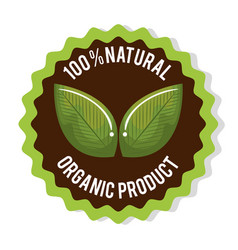 organic product guaranteed seal vector image