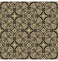 Pattern with decorative shapes in art deco style vector image