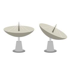 radar dish vector image