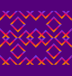rhombus seamless pattern with orange-purple vector image