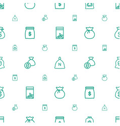 sack icons pattern seamless white background vector image