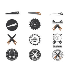 saw logo icon vector image