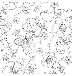 seamless pattern bright strawberry vector image