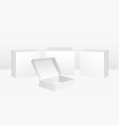 set of white boxes in vector image
