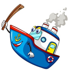 Ship and stick vector