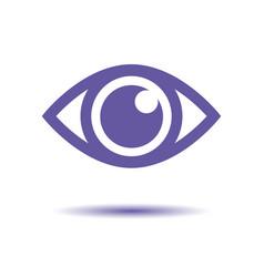 simple eye icon round flare medicine vector image