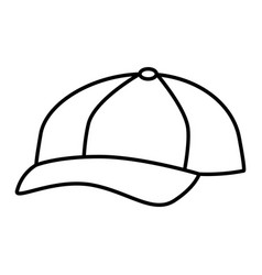 sport cap isolated icon vector image