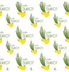 Sukkot pattern with Lulav Etrog Arava and Hadas vector
