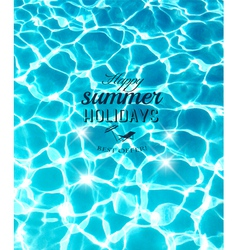 Summer holidays background with beautiful sea vector image