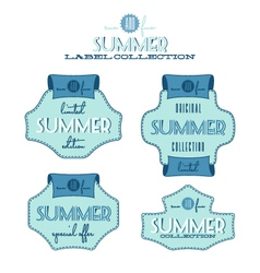 Summer sales label collection vector image