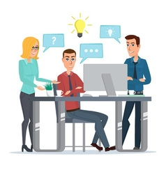 Teamwork office idea Business People Meeting vector image