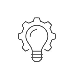 Technical innovation line outline icon vector