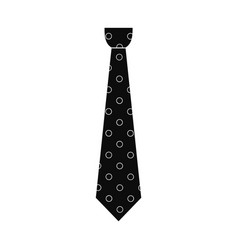 textile tie icon simple style vector image