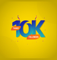 Thanks 10 k followers template design vector