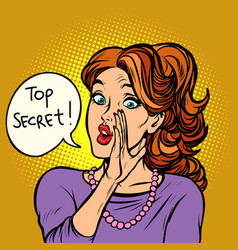 top secret women gossip rumor vector image