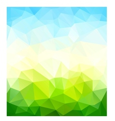 Triangle nature background vector