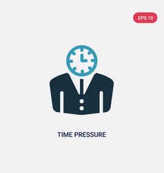 Two color time pressure icon from time management vector
