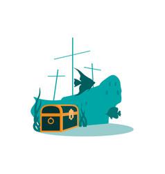 Underwater world scene vector