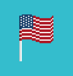 usa pixel flag pixelated banner america political vector image
