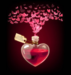 Valentines day card with love elixir vector