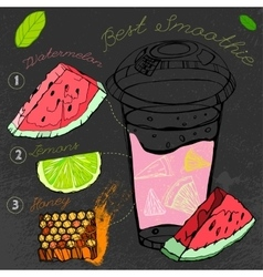 Watermelon Lemon Smoothie 01 A vector image