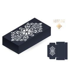 Wedding card laser cut template box vector