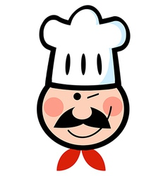 Winking Chef Face vector image
