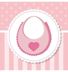 Bib of baby shower card design vector image