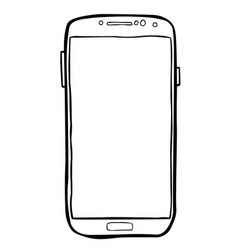 cartoon image of cellphone icon smartphone vector image