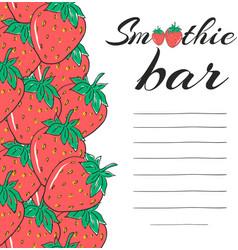Hand drawn restaurant menu elements smoothie bar vector
