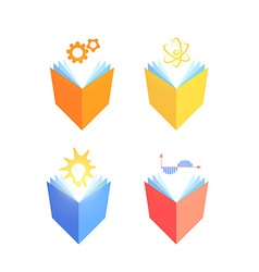 Icons of exact sciences vector image