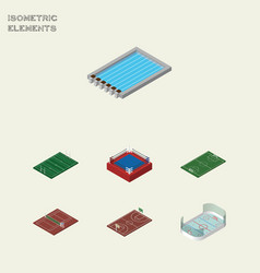 isometric competition set of soccer fighting vector image